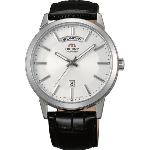 Orient Men's FEV0U003WH 'Contemporary' Automatic Black Leather Watch