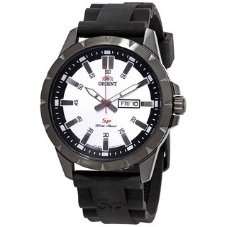 Orient Men's FUG1X006W9 'SP Day Date' Black Silicone Watch