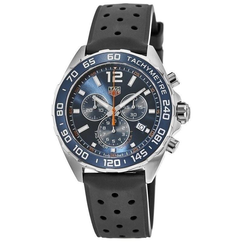 85e61fff769 Tag Heuer Men s CAZ1014.FT8024  Formula 1  Chronograph Black Rubber Watch