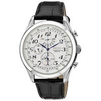 Seiko Men's  'Neo' Chronograph Black Leather Watch