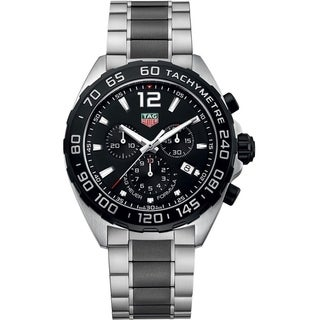 Tag Heuer Men's 'Formula 1' Chronograph Two Tone Stainless Steel and Ceramic Watch