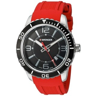 Wenger Men's 'Roadster' Red Silicone Watch