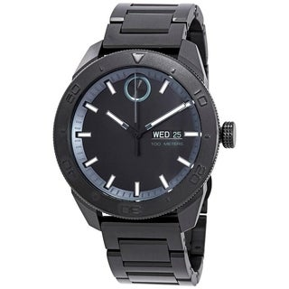 Movado Men's 'Bold' Black Stainless Steel Watch