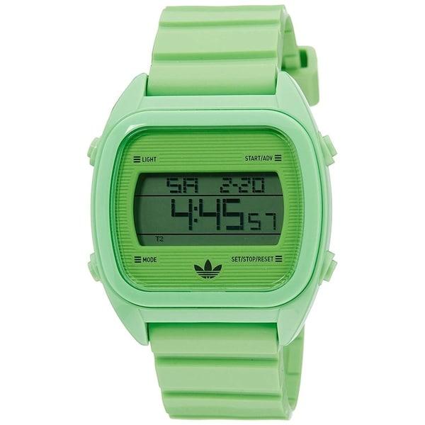 Adidas Unisex 'Sydney' Chronograph Digital Green Resin Watch