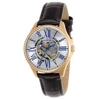 Invicta Women's 'Vintage' Automatic Brown Leather Watch