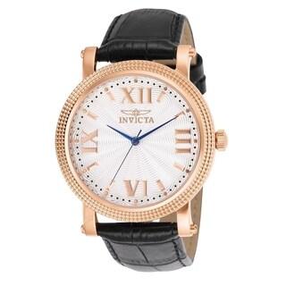 Invicta Women's 'Vintage' Black Leather Watch