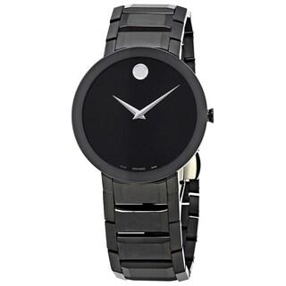 Movado Men's 'Sapphire' Black Stainless Steel Watch