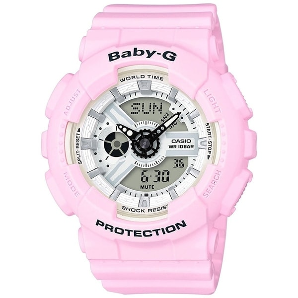 78a395f1440ab Shop Casio Women s  Baby-G  Analog-Digital Pink Resin Watch - On Sale -  Free Shipping Today - Overstock - 22639611