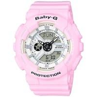 Casio Women's  'Baby-G' Analog-Digital Pink Resin Watch