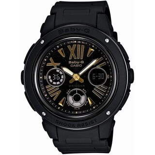 Casio Women's 'Baby-G' Chronograph-Digital Black Resin Watch
