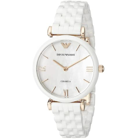 Emporio Armani Women's AR1486 'Ceramica' White Ceramic Watch