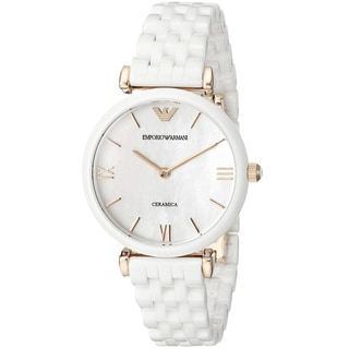 Link to Emporio Armani Women's AR1486 'Ceramica' White Ceramic Watch Similar Items in Women's Watches