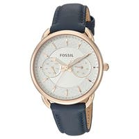Fossil Women's  'Tailor' Multi-Function Blue Leather Watch