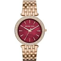 Michael Kors Women's  'Darci' Crystal Rose-Tone Stainless Steel Watch