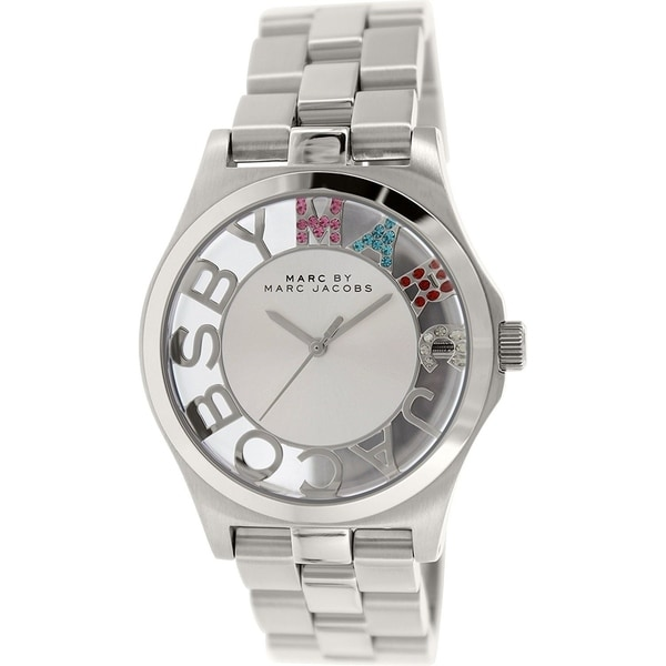 Marc Jacobs Women's 'Henry' Skeleton Crystal Rose-Tone Stainless Steel Watch