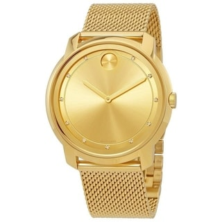 Link to Movado Unisex 3600460 'Bold' Diamond Gold-Tone Stainless Steel Watch Similar Items in Women's Watches