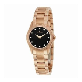 Movado Women's 'Masion' Diamond Rose-Tone Stainless Steel Watch