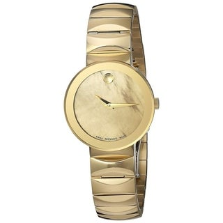 Movado Women's 'Sapphire' Gold-Tone Stainless Steel Watch