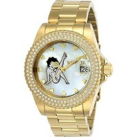 Invicta Women's  'Character' Betty Boop Gold-Tone Stainless Steel Watch