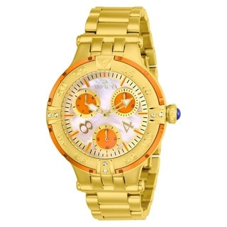 Invicta Women's 'Subaqua' 3 Gold-Tone Stainless Steel Watch