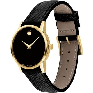 Movado Women's 'Museum' Black Leather Watch