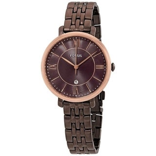 Fossil Women's 'Jacqueline' Brown Stainless Steel Watch