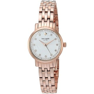 Link to Kate Spade Women's KSW1243 'Mini Monterey' Crystal Rose-Tone Stainless Steel Watch Similar Items in Women's Watches
