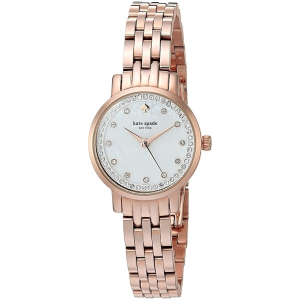Shop Kate Spade Women s  Mini Monterey  Crystal Rose-Tone Stainless Steel  Watch - Free Shipping Today - Overstock - 22639689 be56e99199
