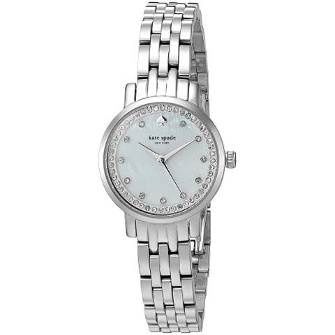 Kate Spade Women's KSW1241 'Mini Monterey' Crystal Stainless Steel Watch