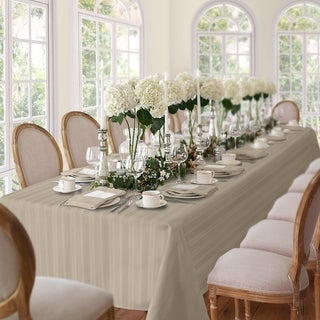 Elrene Denley Stripe Damask Fabric Tablecloth