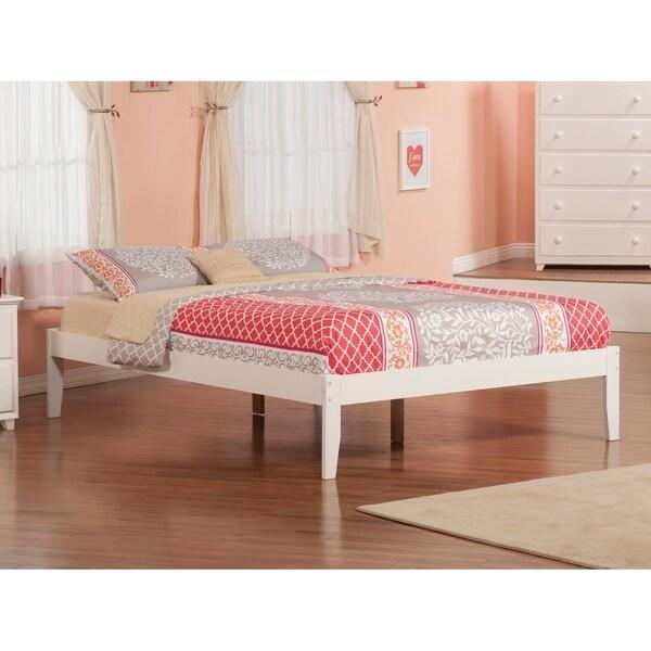 Shop Atlantic Furniture Concord White Wood King Platform