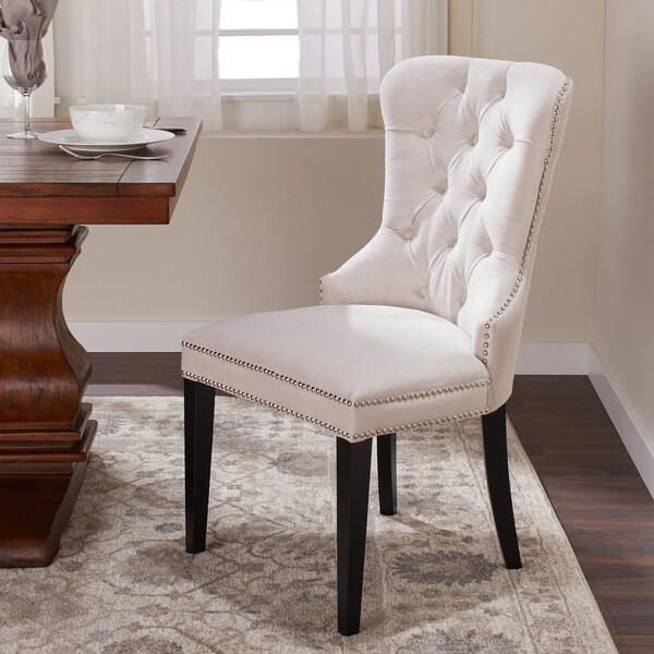 Shop Abbyson Versailles Tufted Velvet Dining Chair In