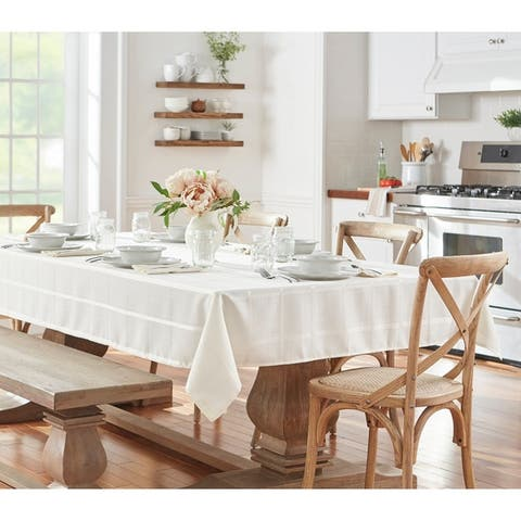 Elegance Plaid Jacquard Tablecloth