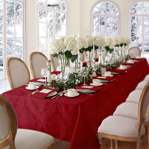 Elrene Barcelona Damask Fabric Tablecloth