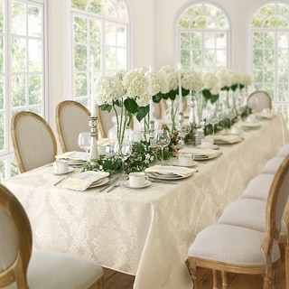 Elrene Barcelona Damask Fabric Tablecloth