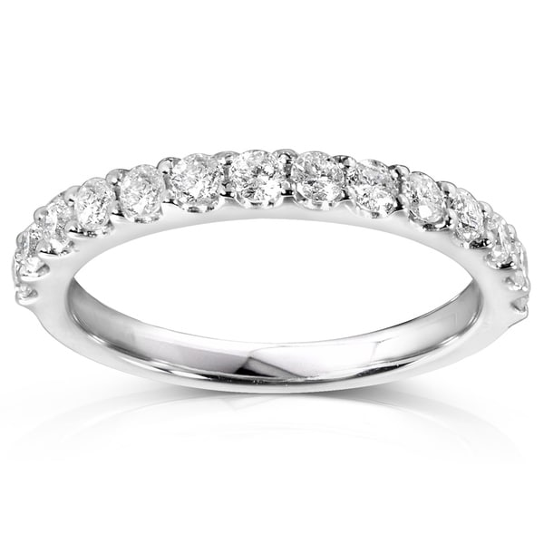 Annello by Kobelli 14k Gold 1/2ct TDW Lab Grown Diamond Semi Eternity Band (DEF/VS). Opens flyout.