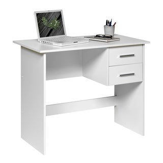 Comfort Products Adina 2 Drawers Writing Desk, White