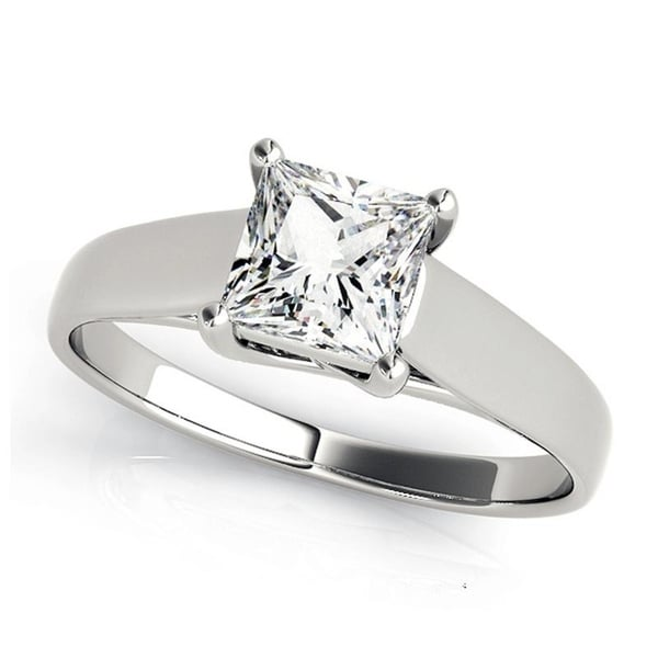 Shop Charles And Colvard 5.5 MM Princess Cut Forever One