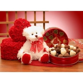 I'm Sending All My Love Valentine's Bear and Chocolates