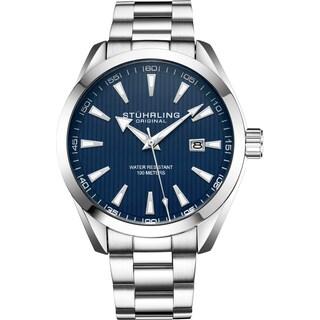 Stührling Original Men's Quartz Stainless Steel Bracelet Watch
