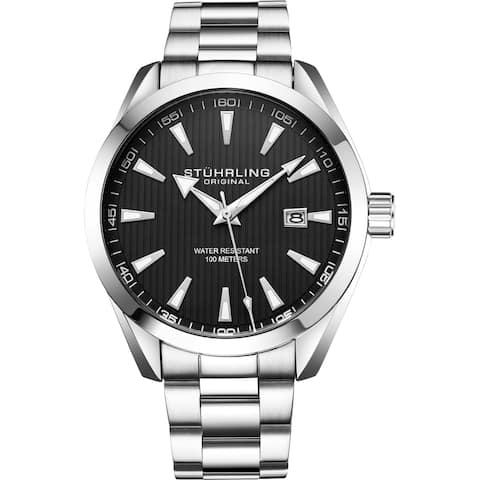 Stuhrling Original Men's Quartz Stainless Steel Bracelet Watch