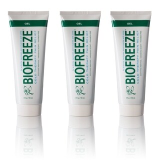 Biofreeze Cold Therapy Pain Relief Gel Tube 4 oz (Pack of 3)