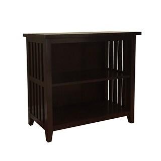 DonnieAnne Brookdale Dark Walnut 2-shelf Bookcase