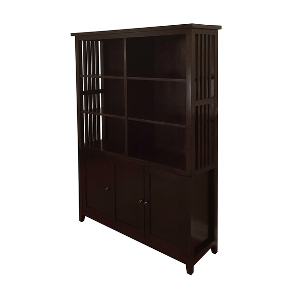 Brookdale Dark Walnut 3-Tier Bookcase