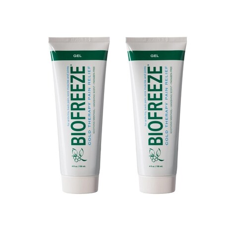 Biofreeze Pain Relief Gel for Arthritis, 4 oz. Cold Topical Analgesic, Fast Acting Cooling Pain Reliever, Pack of 2