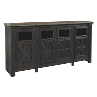 Link to Tyler Creek Casual Extra Large TV Stand Black/Gray Similar Items in Media Cabinets