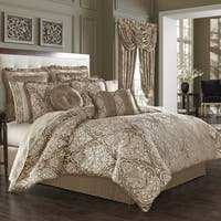 Five Queens Court Stanford Woven Jacquard 4 Piece Luxury Comforter Set