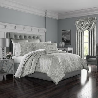 Five Queens Court Brooklyn Woven Jacquard 4 Piece Luxury Comforter Set