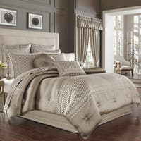 Five Queens Court Beaumont Champagne Jacquard 4 Piece Luxury Comforter Set
