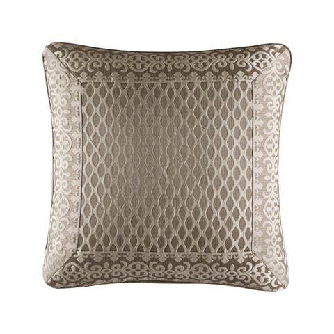 Five Queens Court Beaumont Champagne 20 Inch Square Pillow